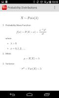 Screenshot of Probability Distributions