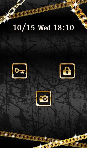 【免費個人化App】可愛換裝桌布★Gold × Black-APP點子
