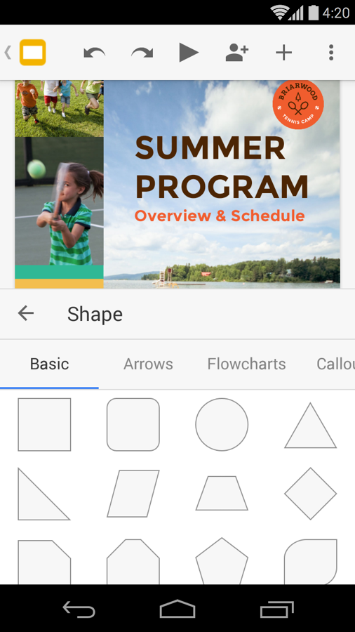 Google Slides - screenshot