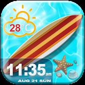 Summer Clock Weather Widget
