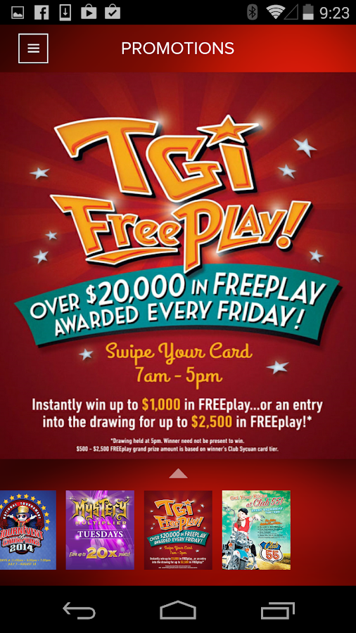 Winstar free play