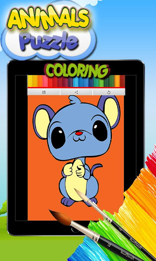 Animals Puzzle Coloring