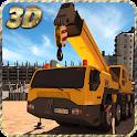 Construction Excavator Sim 3D icon
