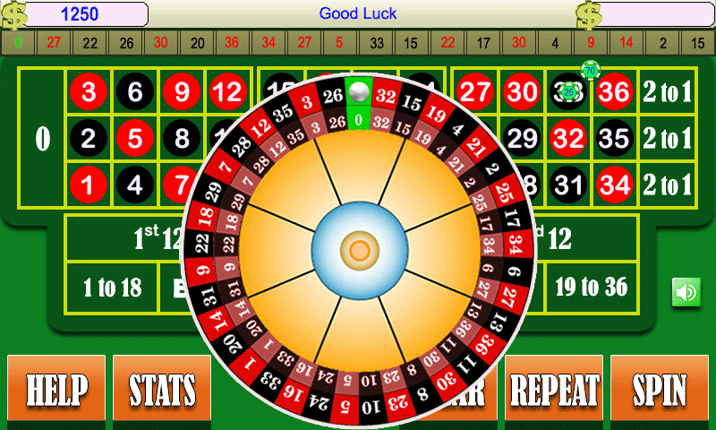 roulette demo play