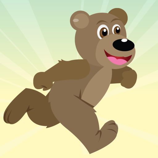 Детская картинка медведя бегущего