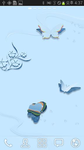 玩工具App 藍色蝴蝶動態壁紙免費 APP試玩