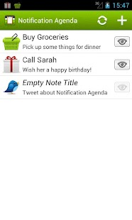 Notification Agenda - screenshot thumbnail