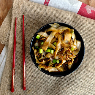 One pan Mushroom Soy Sauce Noodles.