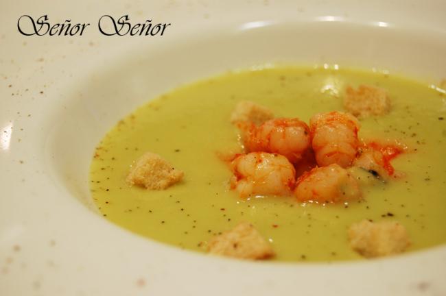 Avocado and Shrimp Vichyssoise