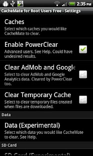 CacheMate for Root Users Free- screenshot thumbnail