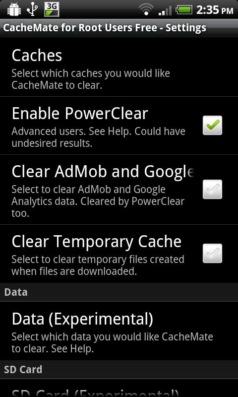 CacheMate for Root Users Free - screenshot