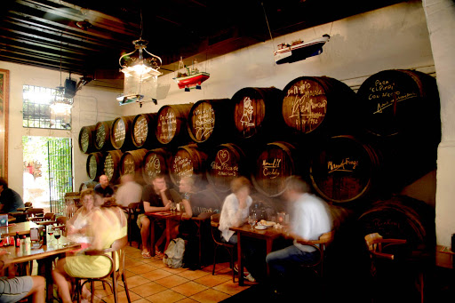 The Málaga region along the southern Mediterranean coast of Spain, in Andalusia, is known for its sweet fortified wine.