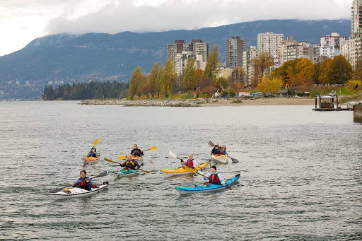 Ecomarine kayaking at Granville Island in British Columbia