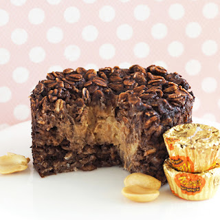 Peanut Butter Cup Baked Oatmeal