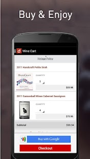Drync Wine Scanner, Delivery- screenshot thumbnail
