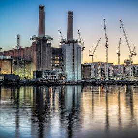 Battersea Power Station-Take 2 by Nicola Scarselli - City,  Street & Park  Vistas ( tamron 24-70, london, a99, long exposure, battersea power station )