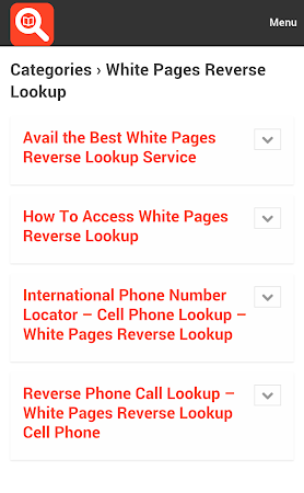 White Pages Search 1.0 screenshot 10012