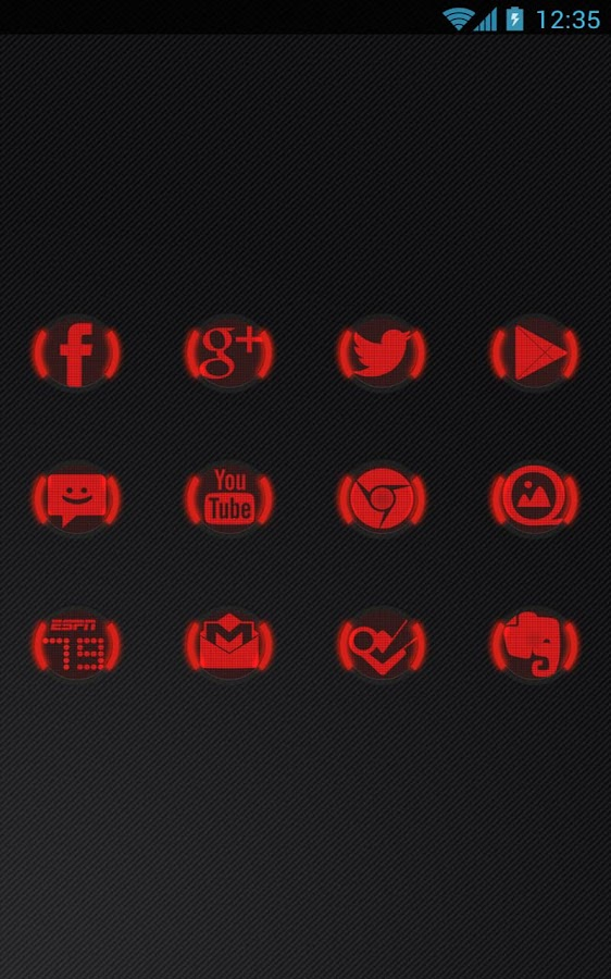 Icon Pack - Red Glow - screenshot