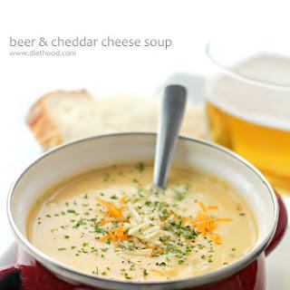 Beer Cheddar Cheese Soup + Blendtec Giveaway