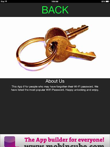 Unlock WiFi Passwords