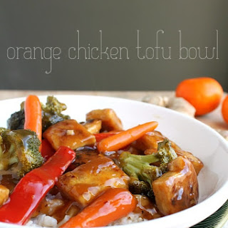 Orange Chicken Tofu Bowl