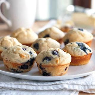 White Chocolate Blueberry Muffins.