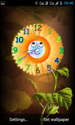 Analog Clock with Eyes - LWP