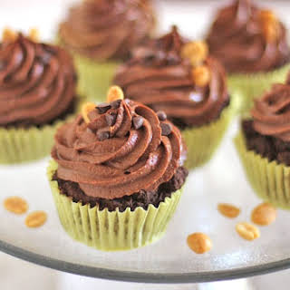 Healthy Reese's Cupcakes [Chocolate Cupcakes with Peanut Butter Filling and Chocolate Peanut Butter Frosting].