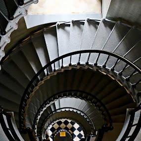 light house stairway by Jon Radtke - Buildings & Architecture Architectural Detail ( light house stairway,  )