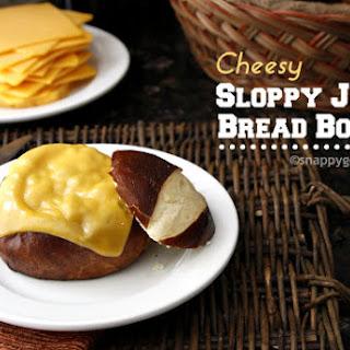 Cheesy Sloppy Joe Bread Bowls