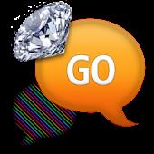 GO SMS - Diamond Rainbow 2