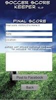 Screenshot of Soccer Scorekeeper Tablet Ed