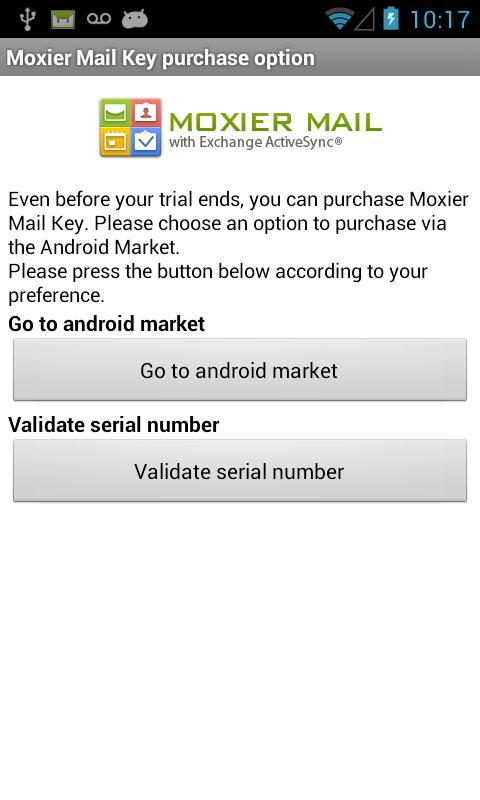 Moxier Mail (Exchange) - Trial - screenshot