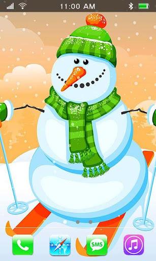 Snowman 2015 HD live wallpaper