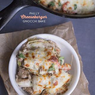 Thirty Minute Philly Cheeseburger Gnocchi Bake Recipe