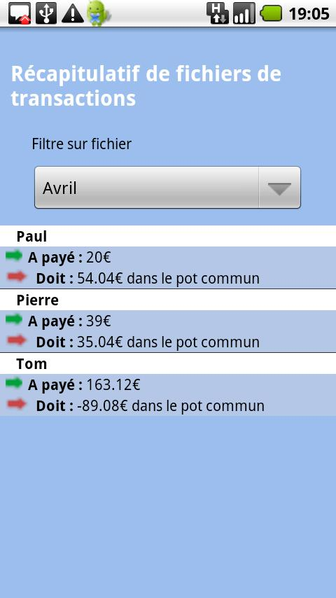 Compta Partagée- screenshot