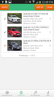 Motors.co.uk car search - screenshot thumbnail