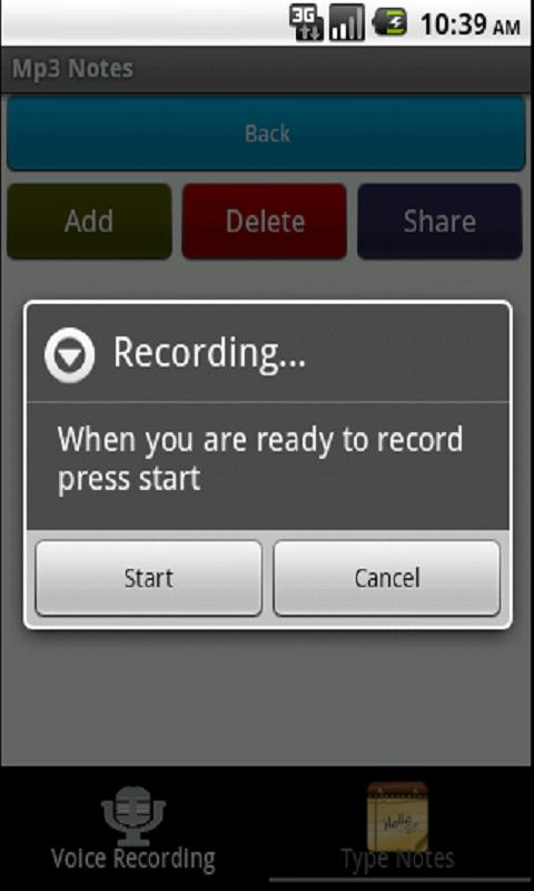 MP3 Notes Recorder - screenshot