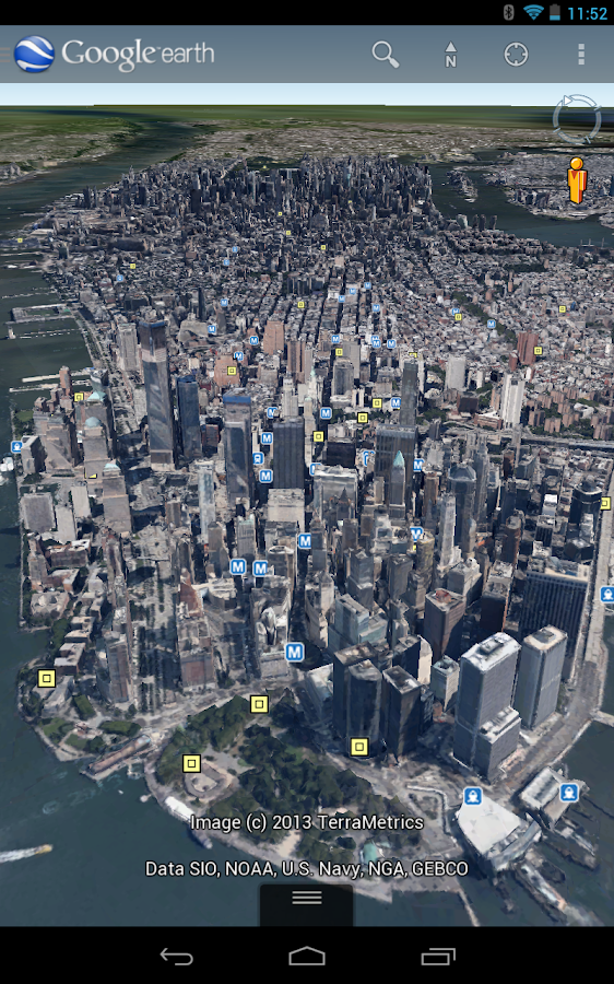 Google Earth - screenshot