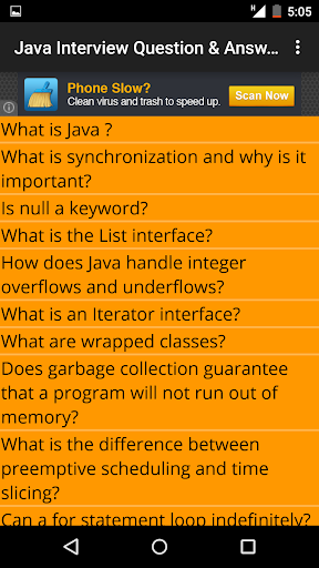 Java Interview Question Answer