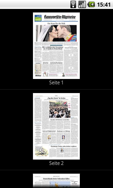 HAZ E-Paper - screenshot