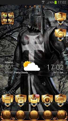 Black Knight GO Launcher Theme