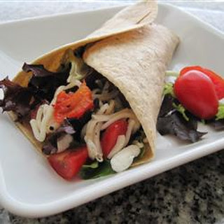 Baby Greens and Goat Cheese Wrap