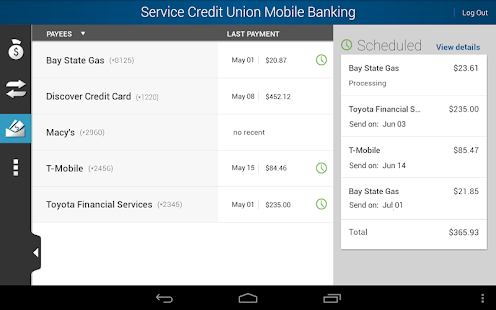 Service CU Mobile Banking - screenshot thumbnail