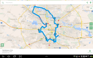 Screenshot of MySmartRoute Route Planner