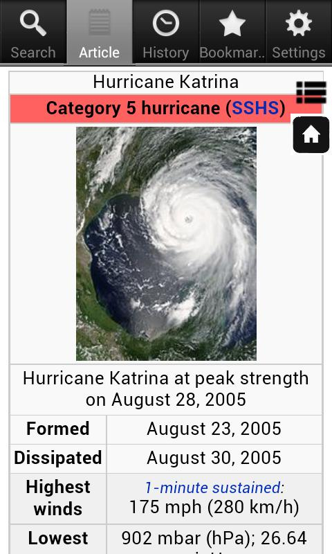 Hurricane Encyclopedia - Free- screenshot