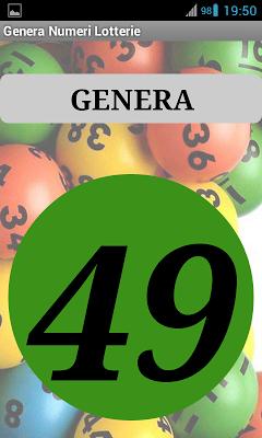 Generatore Numeri Lotterie - screenshot