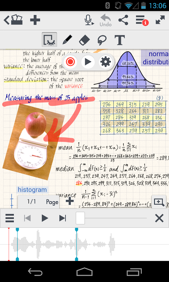 MetaMoJi Note - screenshot