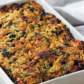 Southwest Corn Bread Stuffing with Corn and Green Chilies.