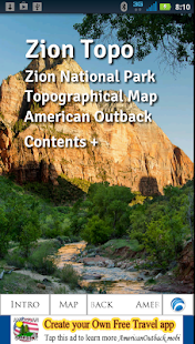 Zion National Park Topo- screenshot thumbnail